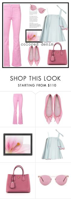 """""""Untitled #668"""" by jovana-p-com ❤ liked on Polyvore featuring Givenchy, Americanflat, Anna October, Prada and Oliver Peoples"""