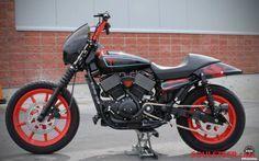 HD Custom King: Harley-Davidson Street 750 customized in black-red paint - SouLSteer
