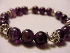 Amethyst Bracelet Calming Stone Prosperity  and Abundance ~ Mother's Day Gift Idea - Free Shipping until Mother's Day by CherylsHealingGems, $29.00
