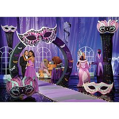 Quinceanera Masquerade Theme Decoration Kit, Masquerade Ball Theme Kit