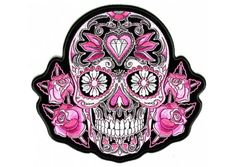 Model: PPA6967. Buy this large cutout patch by Good Sports measuring 8x8 inch. Embroidered patch can be ironed on or sewed on. Colors: Black / White / Pink / Purple / Gray. Shop patches, emblems, badges, appliques at The Cheap Place