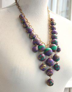 Chunky Elegant Statement Necklace Holiday Jewelry by SaraAmrhein