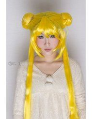 Pretty Soldier #Sailor #Moon Tsukino Usagi Long 130cm Yellow #Costume Party Cosplay #Wig
