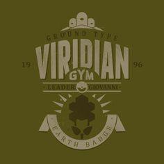 Viridian Gym T-Shirt $12 Pokemon tee at Once Upon a Tee!