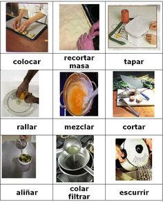 Verbos, para cocinar