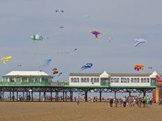Lytham St Annes beach kite festival. St Anne, Sea Side, Blackpool, Beach Walk, My Heritage, British Isles, Days Out, Kite, Summer Days