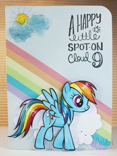 I'd Rather Be Crafting: My Little Pony - Rainbow Dash on Cloud 9