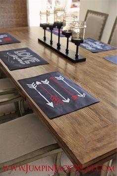 Decorative Valentine Placemats - 6 Styles {Jane Deals}