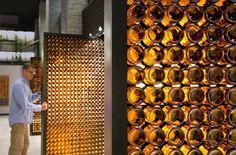 beer bottle doors in Blatz Brewery. amazing.
