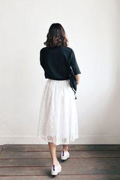 Pattern Layer Long Skirt // Korean Fashion Store