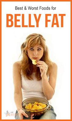 Best & Worst foods for belly fat. : #nutrition