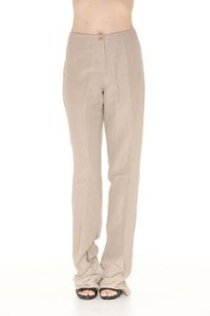Armani Collezioni BEIGE Linen Pants Trousers, 10, Beige Armani. $86.53
