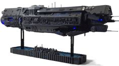 That's almost as long as it took to make Halo 5. Finding all the necessary LEGO elements takes time. The blue lights and the sophisticated design makes Cody Fowler's (via Brothers Brick) U.N.S.C. Infinity look awesome.