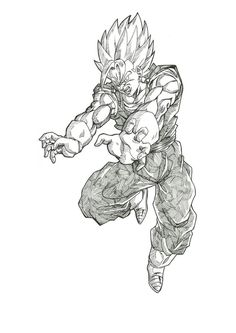 Fandrawn art of Vegito. This is amazing