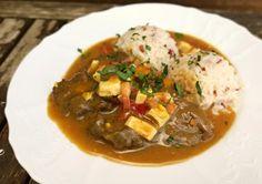 Španělské ptáčky v rozletu s rýží Thai Red Curry, Mashed Potatoes, Pork, Beef, Cooking, Ethnic Recipes, Street Fashion, Holiday Ideas, Crochet