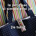 ★★★★★ pour réaliser un petit (ou grand!) sac qui sert à tout il vous faut: 2 rectangles de tissus (ici 32x60cm - mais adaptez les...