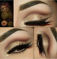 Dazzling Eye Makeup Looks For New Year Evening 2015 (2)