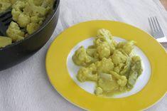 Rezept. Kokos-Curry Karfiol mit Kartoffeln. Für fortgeschrittene BLW-Babys Karfiol mit Kokos-Curry Sauce. Blumenkohl für BLW-Anfänger. Schnell und leicht.