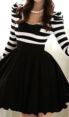 STRIPED RETRO SWING DRESS would love to have a longer version of this!