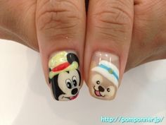 ミッキーとダッフィーのアート Nail Art Duffy and Mickey