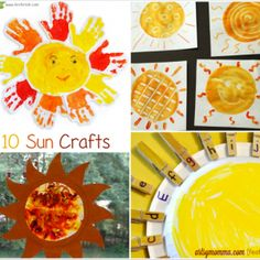 10 Sun Crafts for Kids to make this Summer!