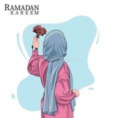 Hijab Anime, Anime Muslim, Cartoon Girl Drawing, Girl Cartoon, Cartoon Art, Photos Islamiques, Ramadan Poster, Hijab Drawing, Black Cartoon Characters