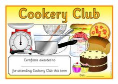 Best Cook Award Certificate