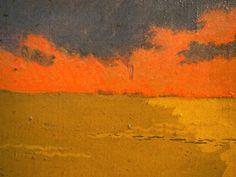 """Georges Lacombe, """"La mer jaune"""", Camaret, 1892, detail (Musée des Beaux-arts de Brest)."""