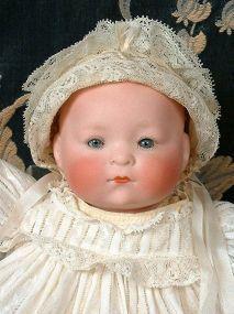 "Cute 9"" Heubach Koppelsdorf Dream Baby In All Original Costume - Kathy Libraty's Dolls #dollshopsunited"