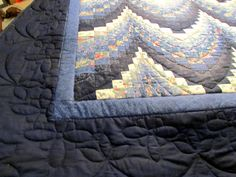 Detail of bargello quilt from Amish quilt auction.
