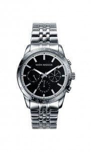 Colección Timeless luxury - HM0004-57. Reloj multifunción brazalete, esfera negra y bisel IP Gun. Cierre desplegable. Cristal mineral. Impermeable 30m (3ATM). Precio: 69,00 €
