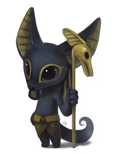 swolizard:  lylaha:   Lil Egyptian Gods by Silverfox5213  IM SOBBING ABT THESE  these are adorable
