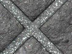 Glitter grout for shower tiles