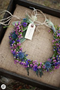 Sweet, blue and purple floral bridal hair garland. Sweet, blue and purple floral bridal Hair Garland, Hair Wreaths, Decoration St Valentin, Corona Floral, Wedding Bouquets, Wedding Flowers, Flower Girl Hairstyles, Deco Floral, Floral Headpiece
