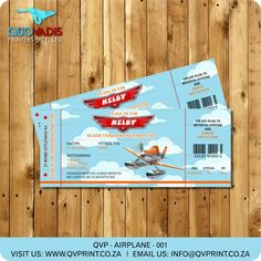 This listing is for a x invitation (your choice of a printable file or printed and shipped) customized with your event details. Printable Birthday Invitations, Invitation Cards, Invite, Corporate Gifts, Words, Airplane, Ticket, Planes, Printed
