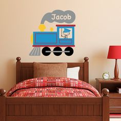 Train Wall Decal with Boys Name Personalized - Thomas the Tank Decal PERFECT!