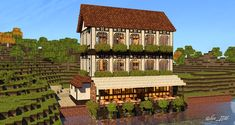 Minecraft - Riverside Building