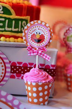 Polka Dot Birthday Supplies, Decor, Clothing: Michelle's Pink Polka Dot ELMO Birthday Party