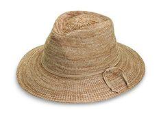 Wallaroo Women's Victoria Fedora Sun Hat - 100% Poly-Straw - UPF50+, Mixed Camel - http://todays-shopping.xyz/2016/06/02/wallaroo-womens-victoria-fedora-sun-hat-100-poly-straw-upf50-mixed-camel/