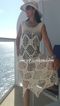 Vintage Boho Style Crochet Dress handmade 100% by OmyFashions