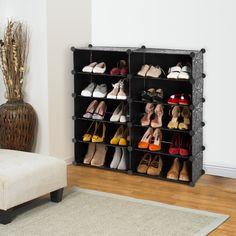 amazoncom langria 10cube diy shoe rack drawer unit multi use