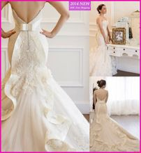 Vestido De Noiva 2015 New Mermaid Wedding Dresses Lace Bride Dress Sweetheart Sleeveless Robe De Mariage Custom-Made UV-231(China (Mainland))