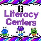 13 Common Core Literacy Centers  Centers included in this pack are listed below:  **What's Happening ~Present and Past Tense Verbs / Recording Shee...