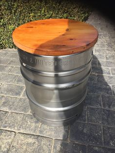 Beer Keg Seat with recycled Pallet timber top. … Beer Keg Seat with recycled Pallet timber top. Diy Bar Stools, Diy Stool, Brewery Design, Pub Design, Bar Shed, Barris, Beer Keg, Beer Taps, Beer Shop