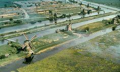 nederland waterland | DWW laag Nederland FIBO serie Nummer 15 Lek linkeroever Kinderdijk ...