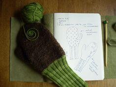 Semifelted mittens by WoolPower, via Flickr