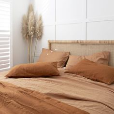 Our Cuban bedhead a stunning relaxed piece with a box weave rattan design for your bohemian abode. Bedroom Inspo, Home Bedroom, Master Bedroom, Bedroom Decor, Bedrooms, Furniture Removalists, House Goals, New Room, Interior Design
