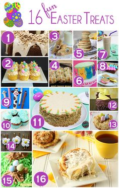 Need some inspiration for Easter treats? Here's 16 fun and festive ideas that are perfect for the season!