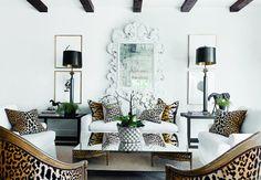 Fairy Living Room Ideas | Animal-Print-Living-Room-Chairs-Pillows-Leopard-Cheetah