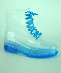 Another great find on #zulily! Blue  Clear Waterproof Jelly Boot by Ruby Shoes #zulilyfinds